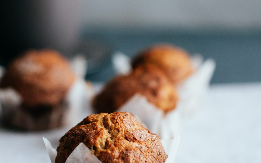 Pear Ginger Walnut & Chia Seed Muffins